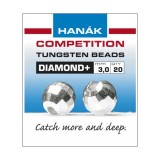 Hanak Tungsten Beads Diamond-silver