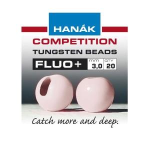 Hanak Tungsten Beads Fluo-Light Pink