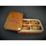 Wooden fly box MFF - 4 compartments