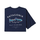 T-SHIRT PATAGONIA FLY FISHING FITZ ROY TROUT ORGANIC M'S SUMMER 2021